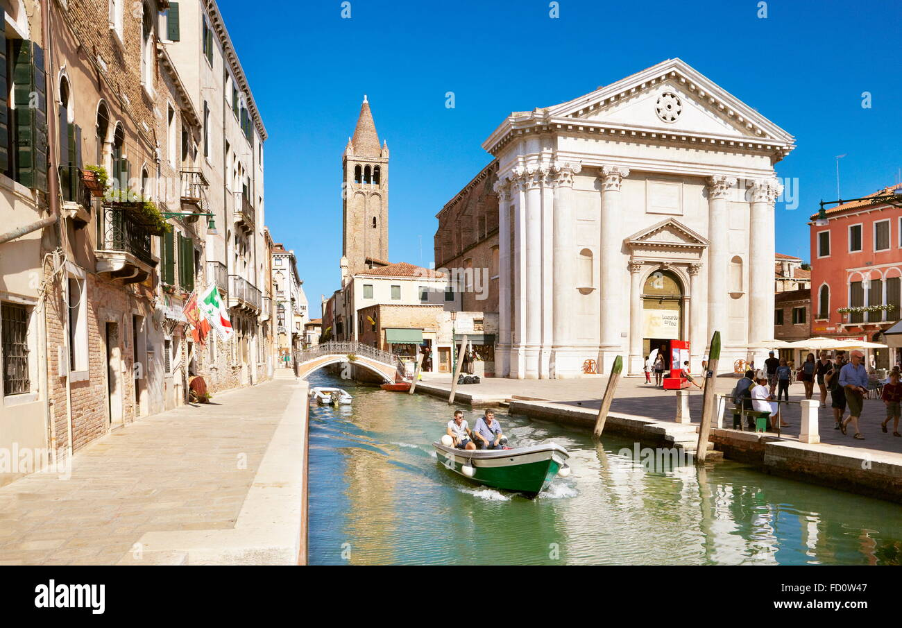 One of the numerous canals Venice, Veneto, Italy, UNESCO - Stock Image