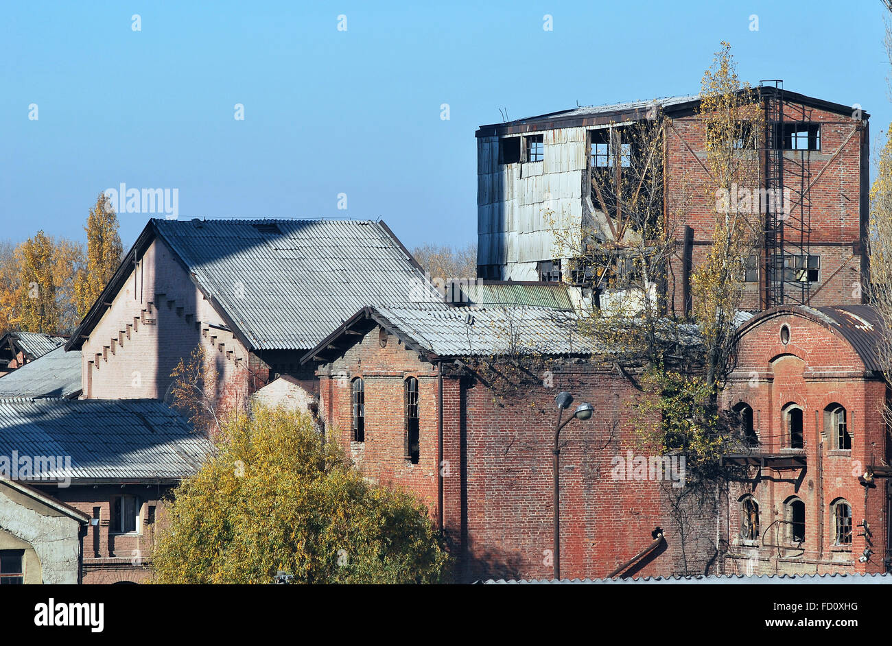 Old factories of the Belgrade city - Stock Image