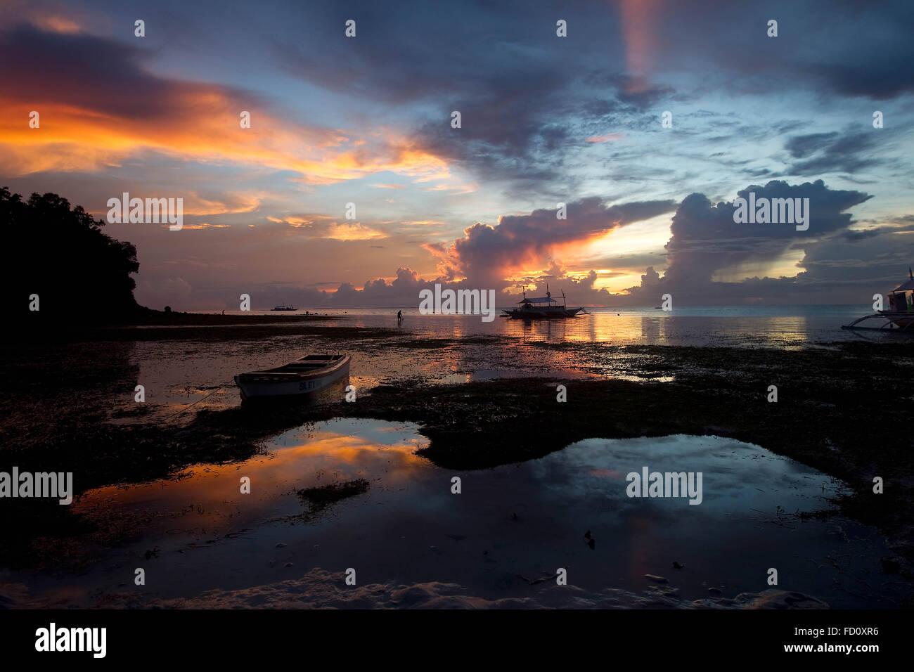 Sunset, Malapascua Island,Philippines Stock Photo