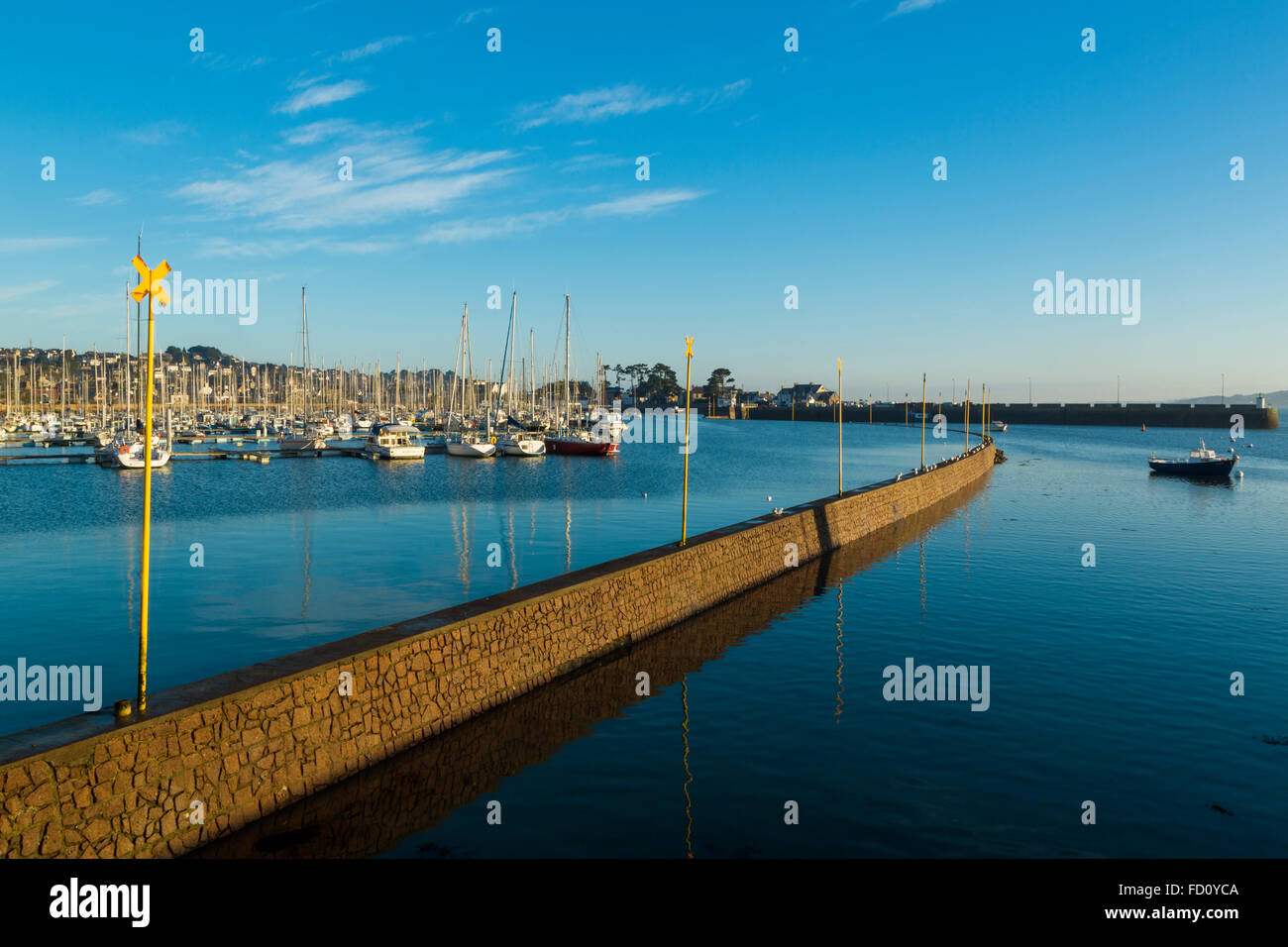 France,Brittany,Cotes d'Armor, Perros Guirec Stock Photo