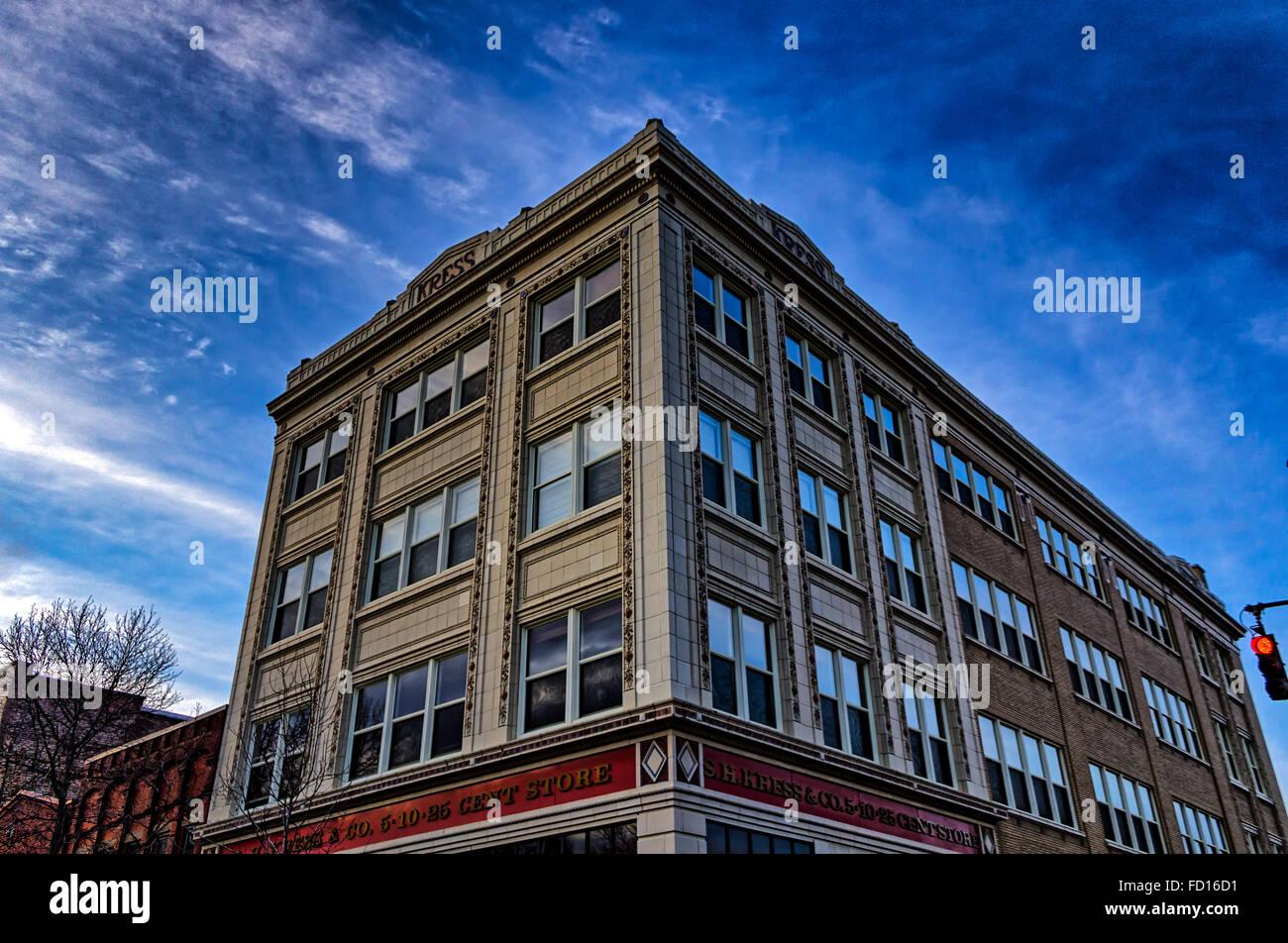 Random Building in Asheville, North Carolina, USA - Stock Image