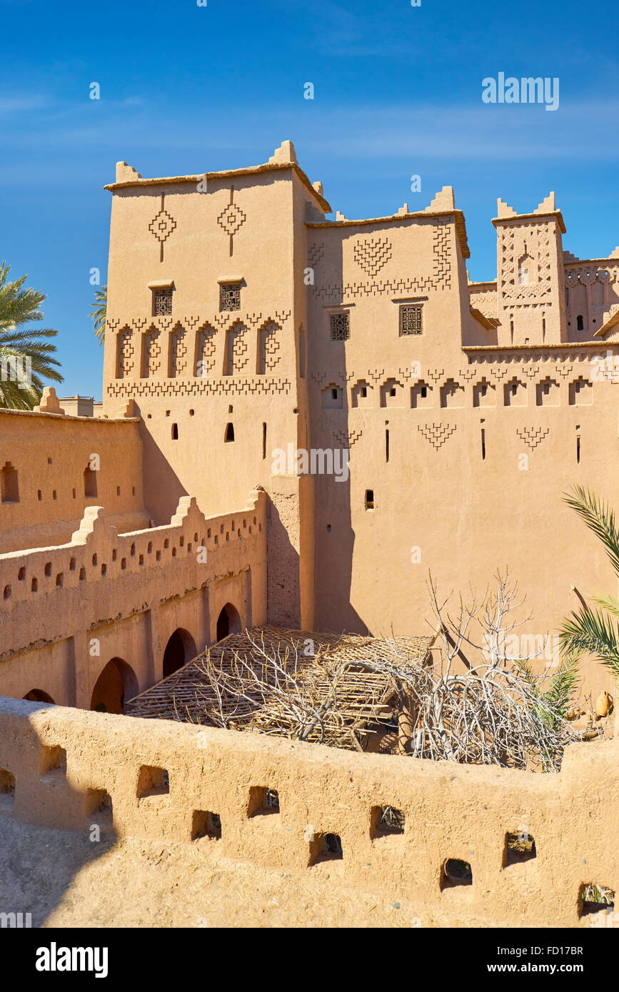 Kasbah Amahidil in Skoura oasis, Ouarzazate district. Morocco Stock Photo
