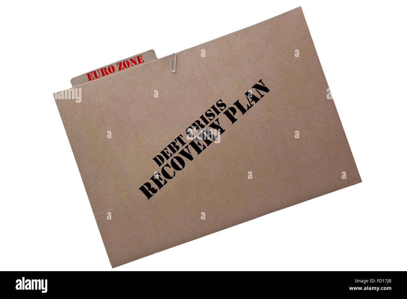 European financial crisis  recovery plan - Stock Image