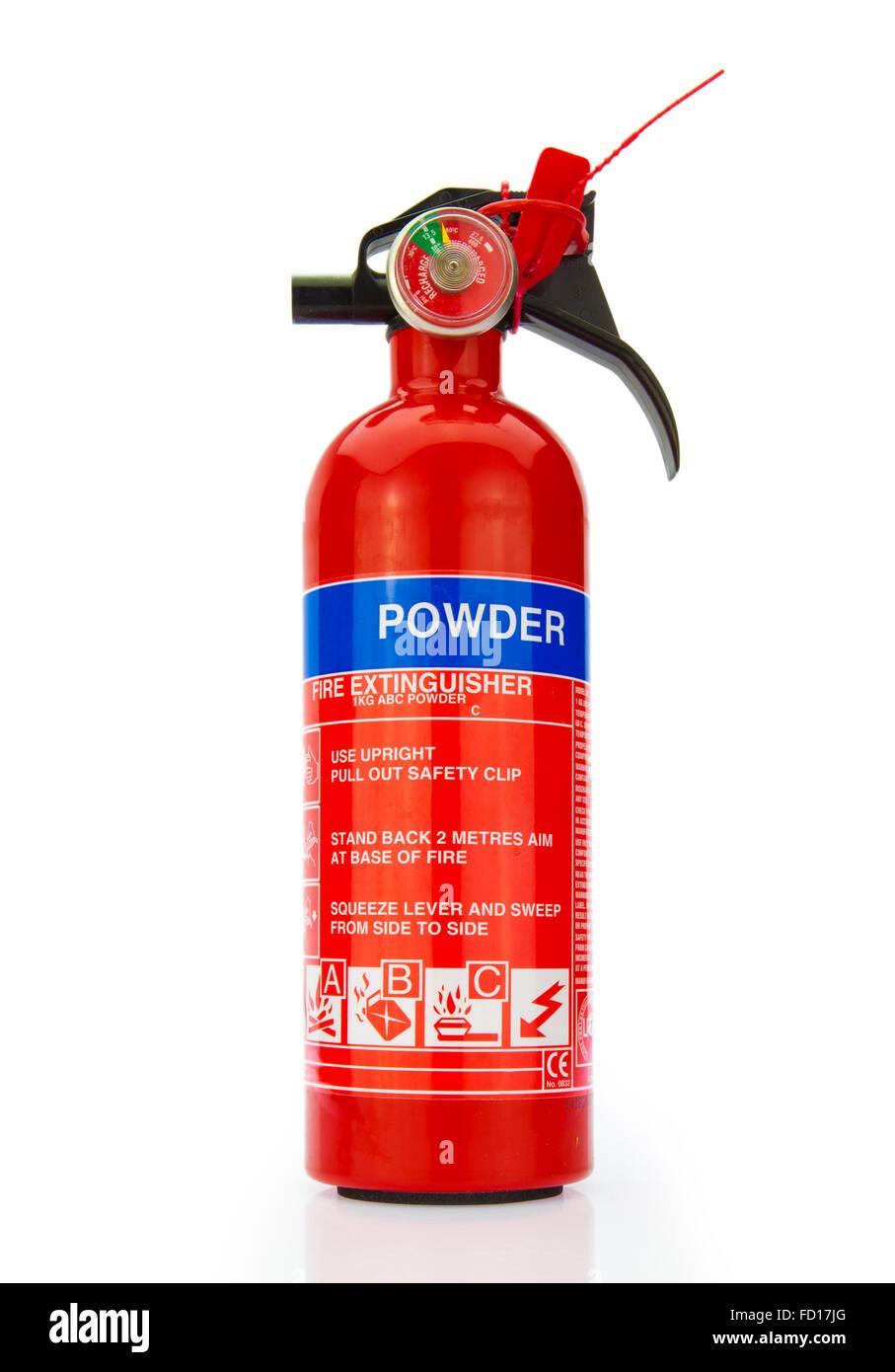 Fire extinguisher isolated on white background - Stock Image