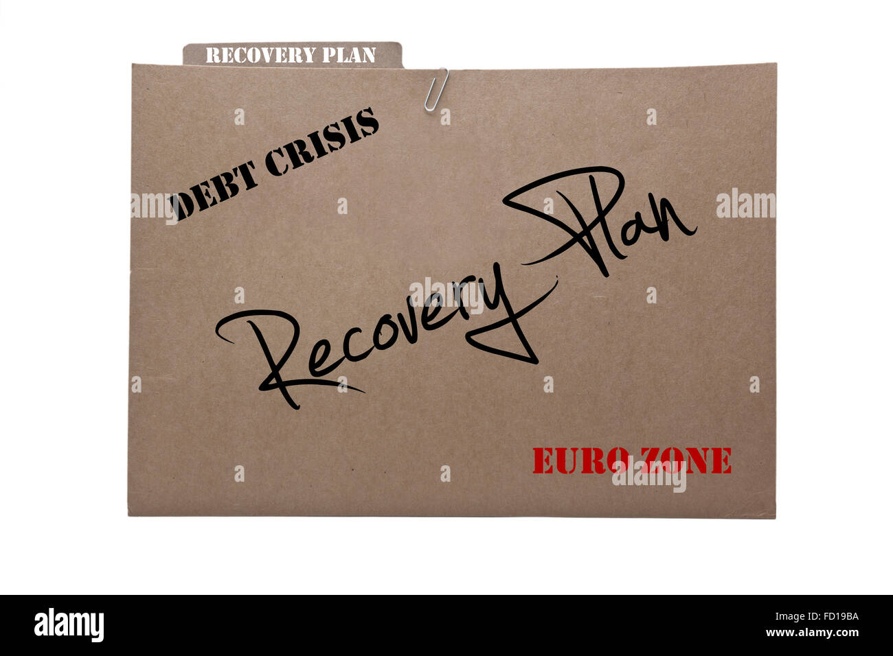 Disaster Recovery Plan - Stock Image