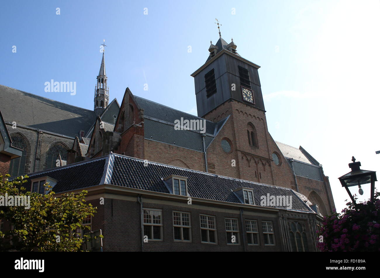Hooglandse kerk, late Gothical Church in the medieval centre of Leiden, The Netherlands Stock Photo