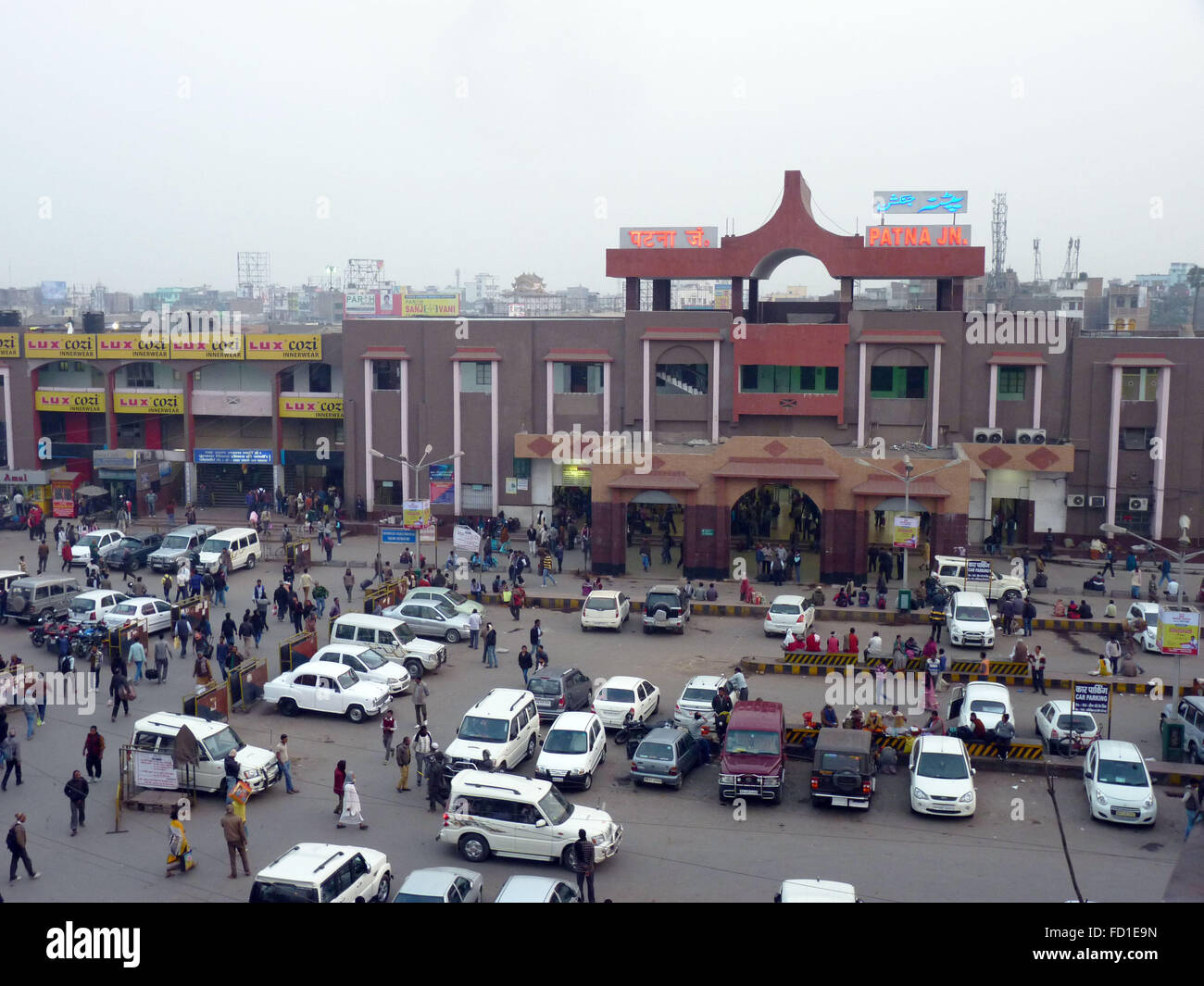 typical view outside patna railway station in bihar india stock photo 94075569 alamy. Black Bedroom Furniture Sets. Home Design Ideas