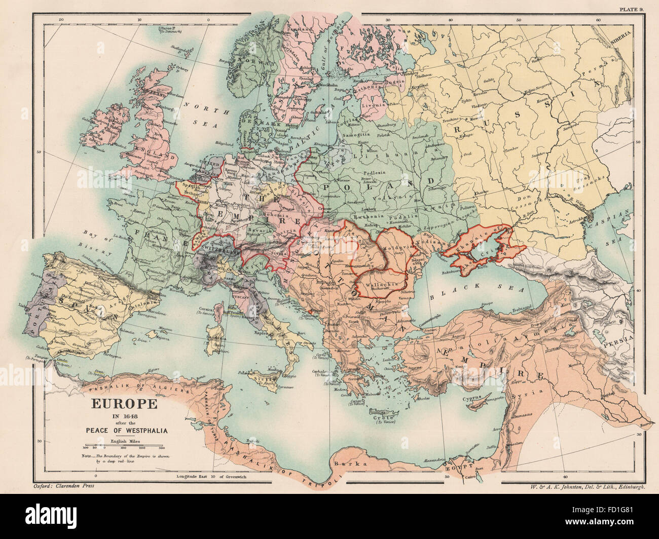 EUROPE IN 1648: After the Peace of Westphalia. Holy Roman Empire ...