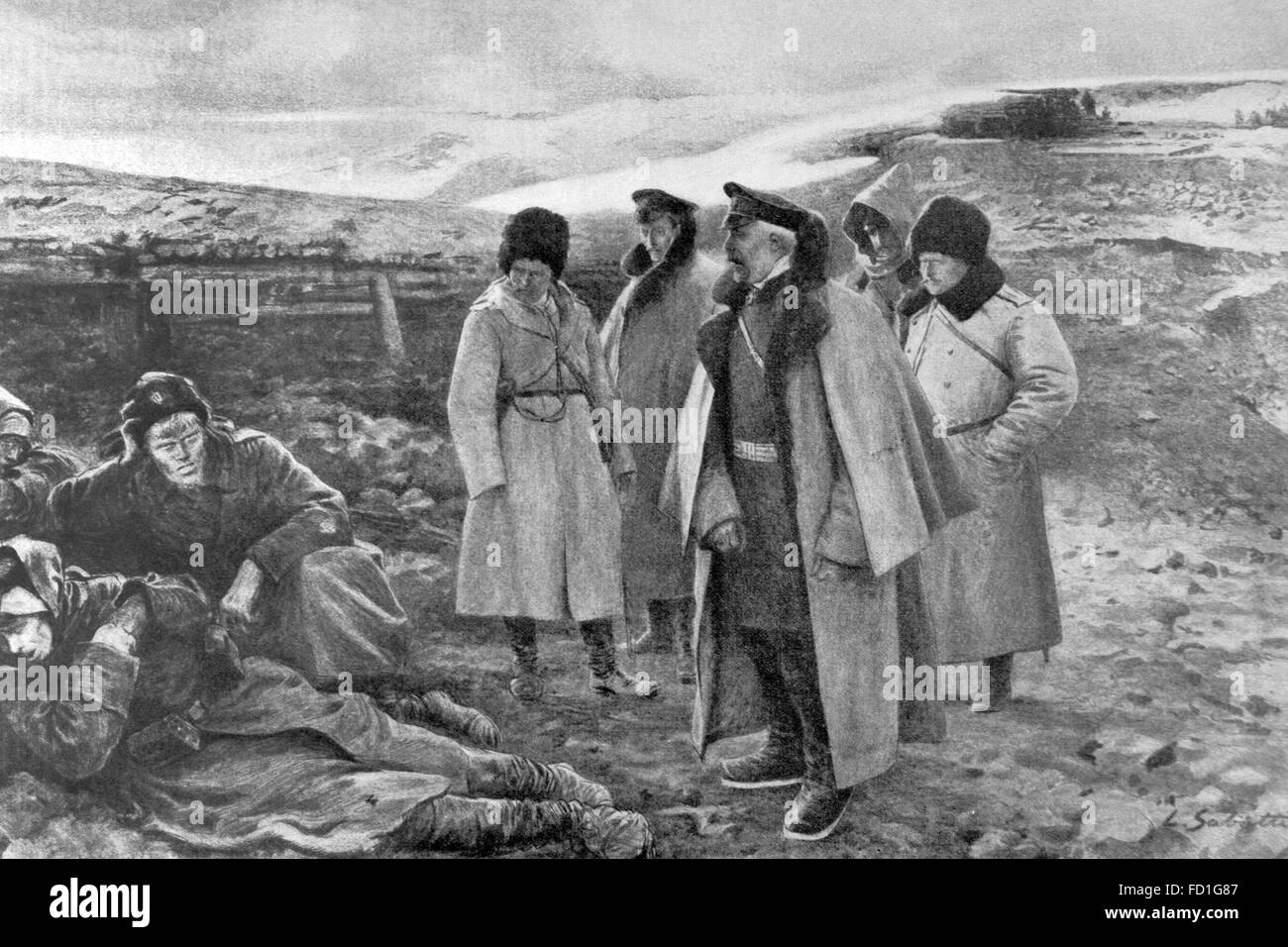 Russo-Japanese War (1904-1905). Last days of Port Arthur resistance. The Russian General Anatoly Stessel (1848-1915) - Stock Image