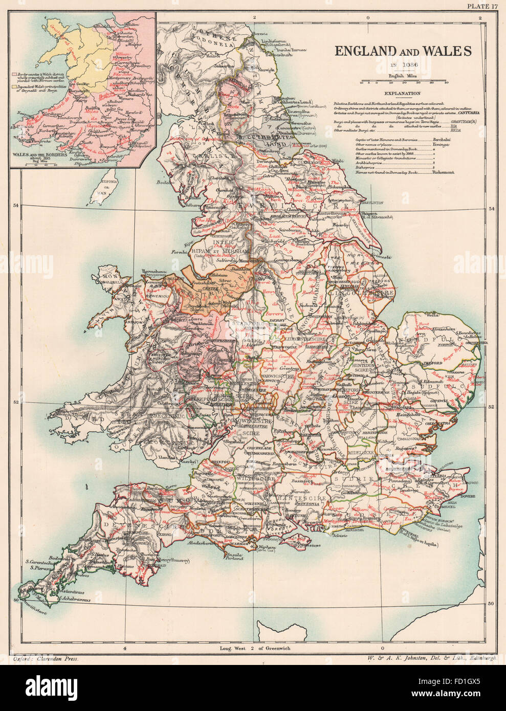 Britain map book stock photos britain map book stock images alamy norman britain 1086 england wales of domesday book borders 1185 1902 map gumiabroncs Gallery