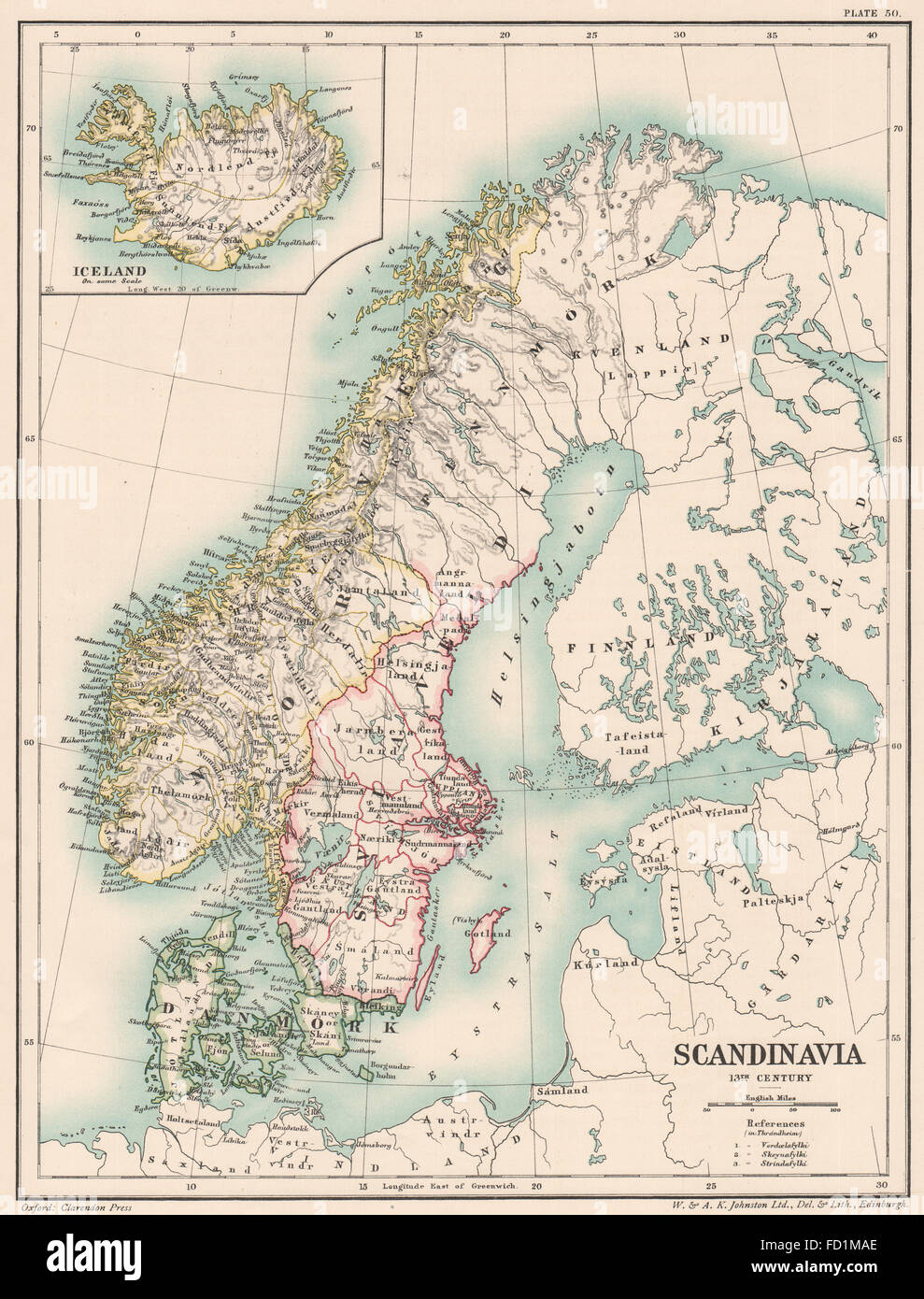 Antique Map Of Iceland Stock Photos & Antique Map Of Iceland Stock ...