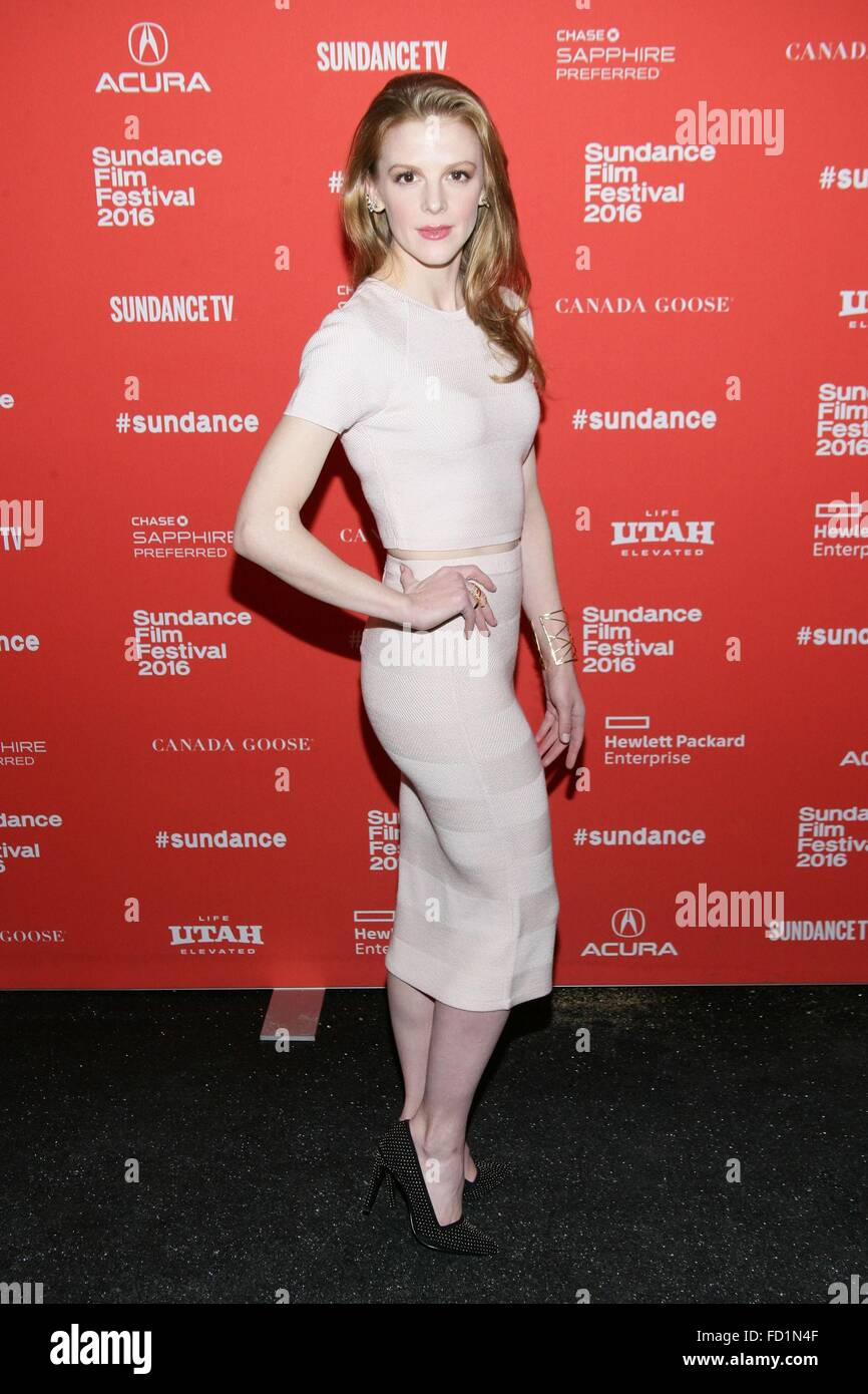 Park City, UT, USA. 26th Jan, 2016. Ashley Bell at arrivals for CARNAGE PARK Premiere at Sundance Film Festival - Stock Image
