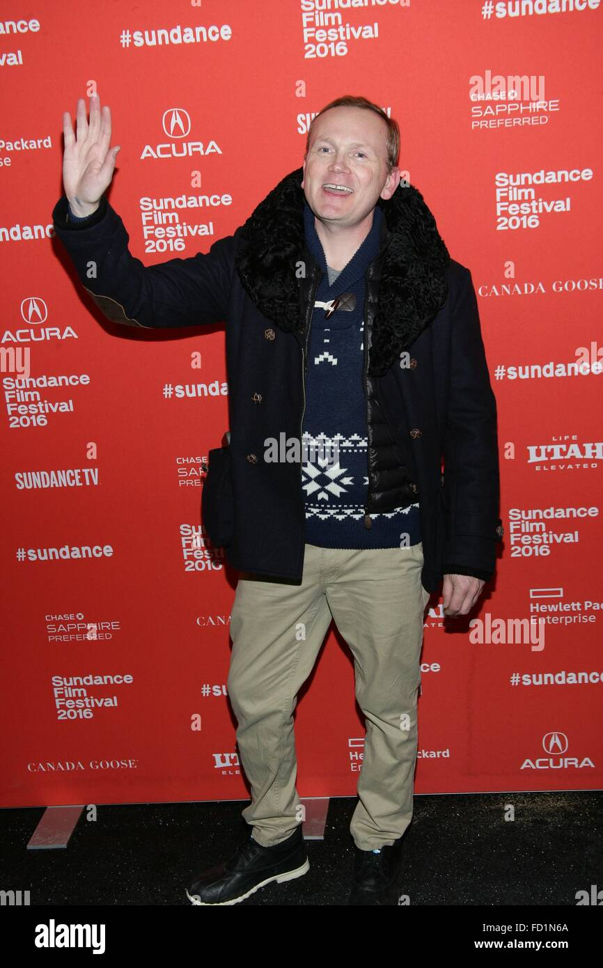 Park City, UT, USA. 26th Jan, 2016. Pat Healy at arrivals for CARNAGE PARK Premiere at Sundance Film Festival 2016, - Stock Image