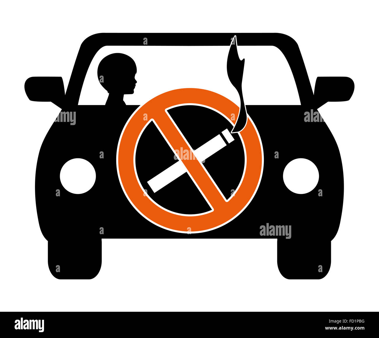 Ban Smoking in Cars with Kids - Stock Image