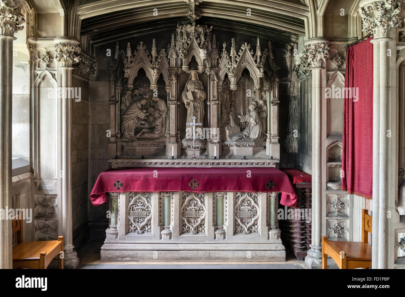a now redundant Catholic seminary. Chapel of St Charles Borromeo - Stock Image