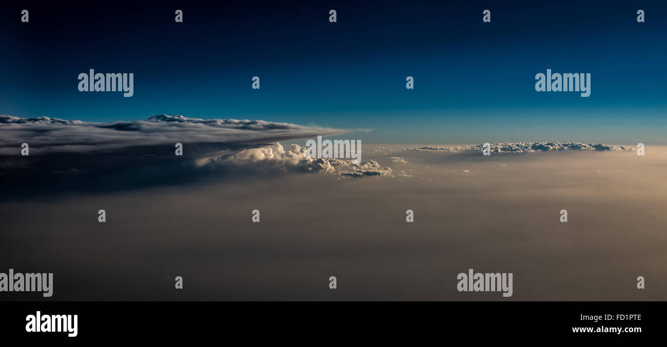 Clouds above clouds. - Stock Image