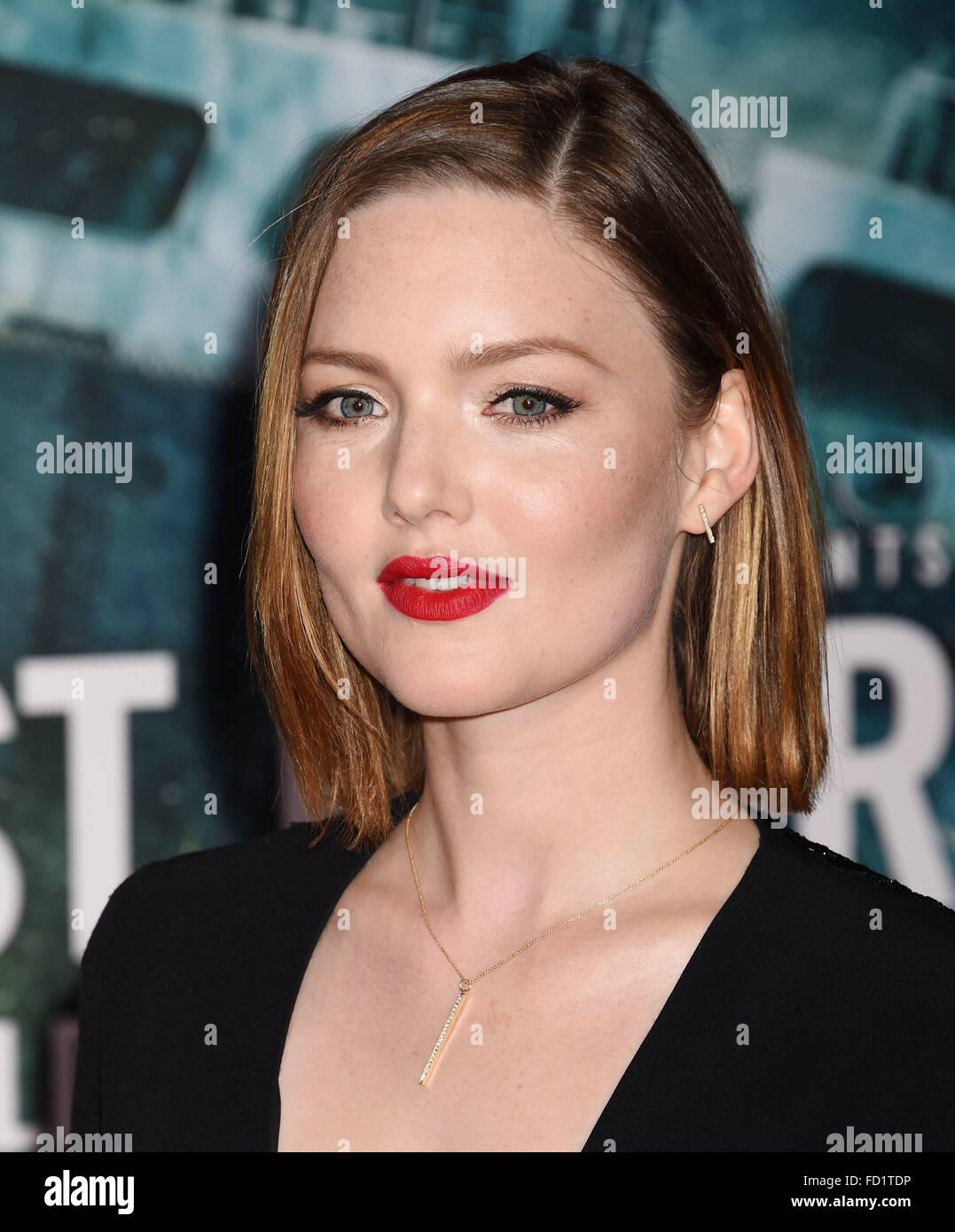 HOLLIDAY GRAINGER US film actress in January 2016. Photo Jeffrey Mayer - Stock Image