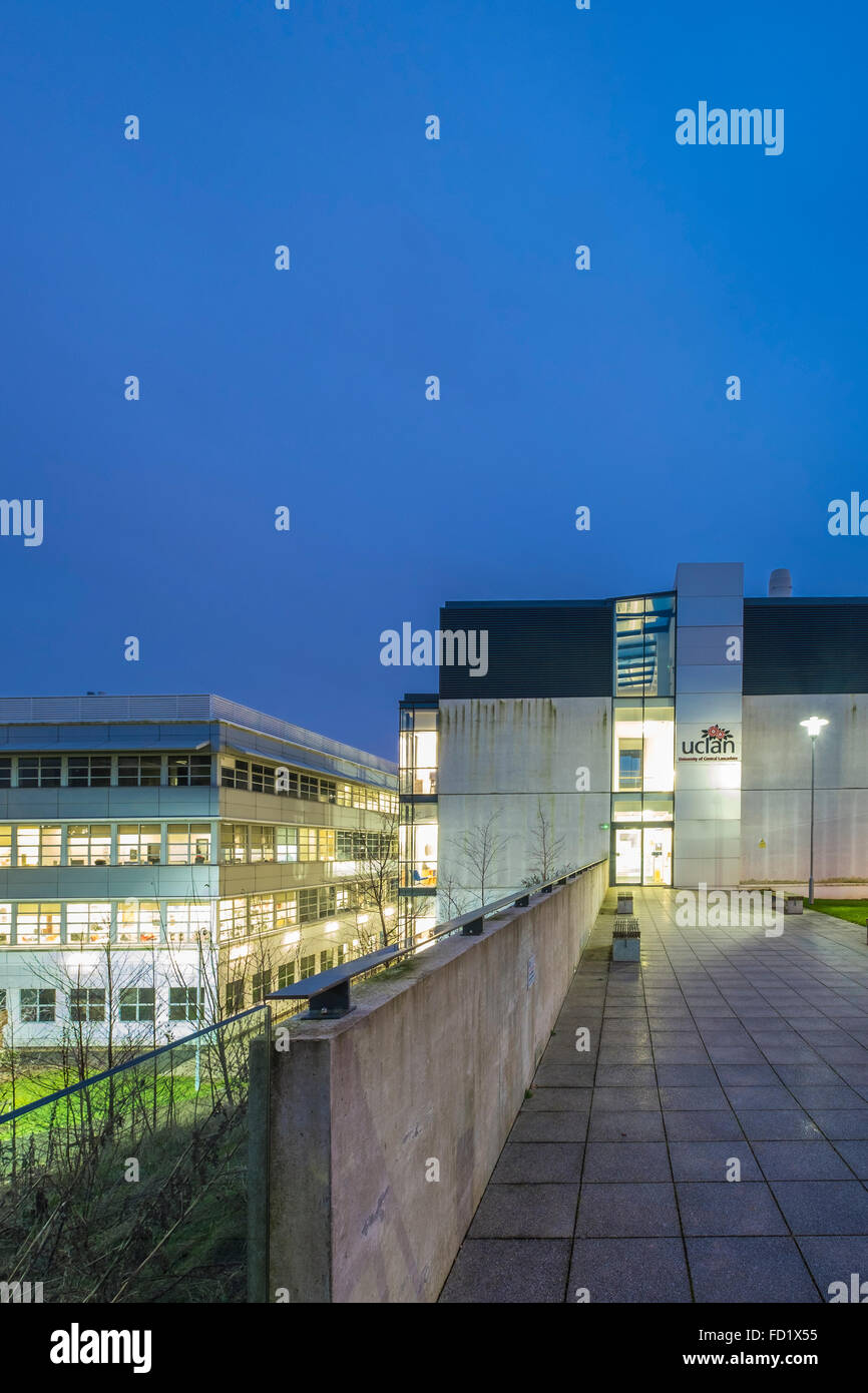 University of Central Lancashire (UCLAN) Forensic Science building in the centre of Preston - Stock Image