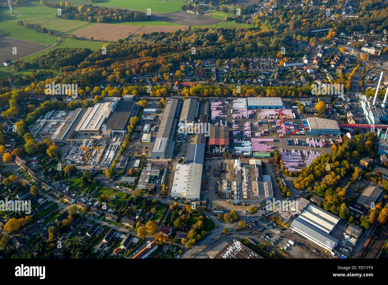 Rockwool, mineral wool, Gladbeck, Ruhr district, North Rhine-Westphalia, Germany - Stock Image