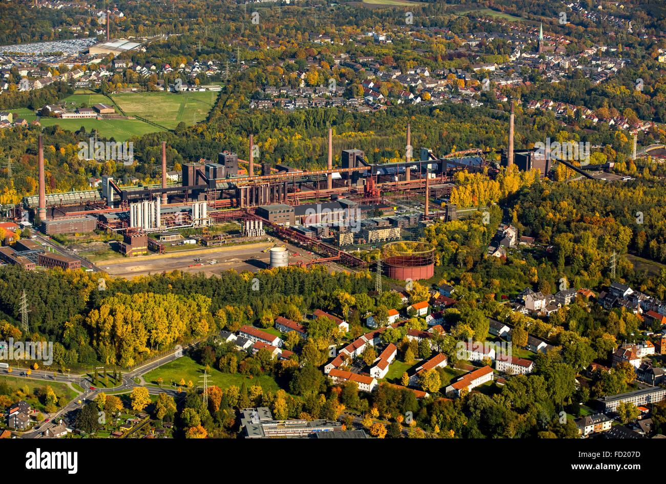 Zollverein coking plant, autumn, Zollverein Coal Mine Industrial Complex, UNESCO World Heritage Site, Essen, Ruhr - Stock Image