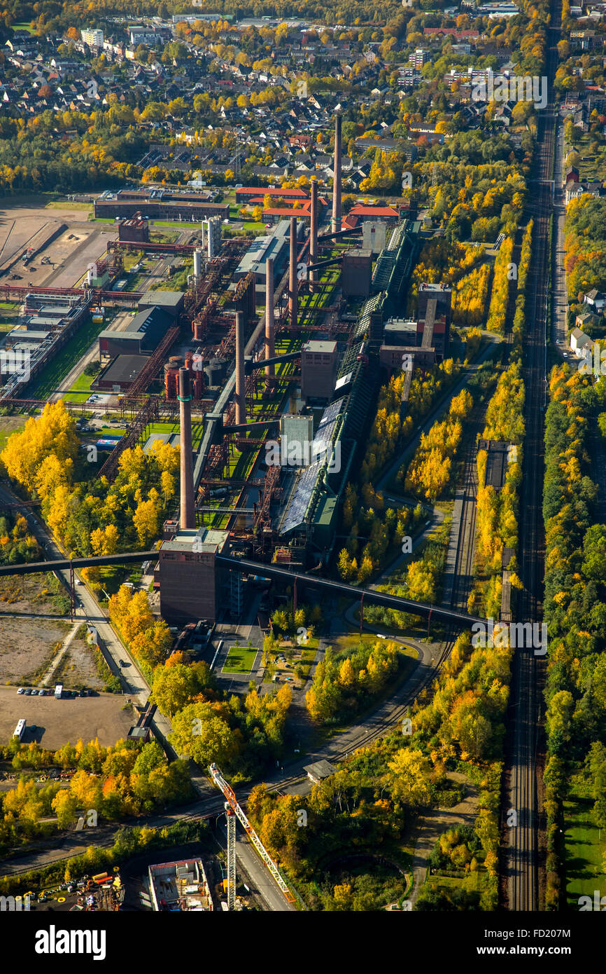Zollverein coking plant, autumn, Zollverein Coal Mine Industrial Complex, UNESCO World Heritage Site, Essen, Ruhr - Stock Image