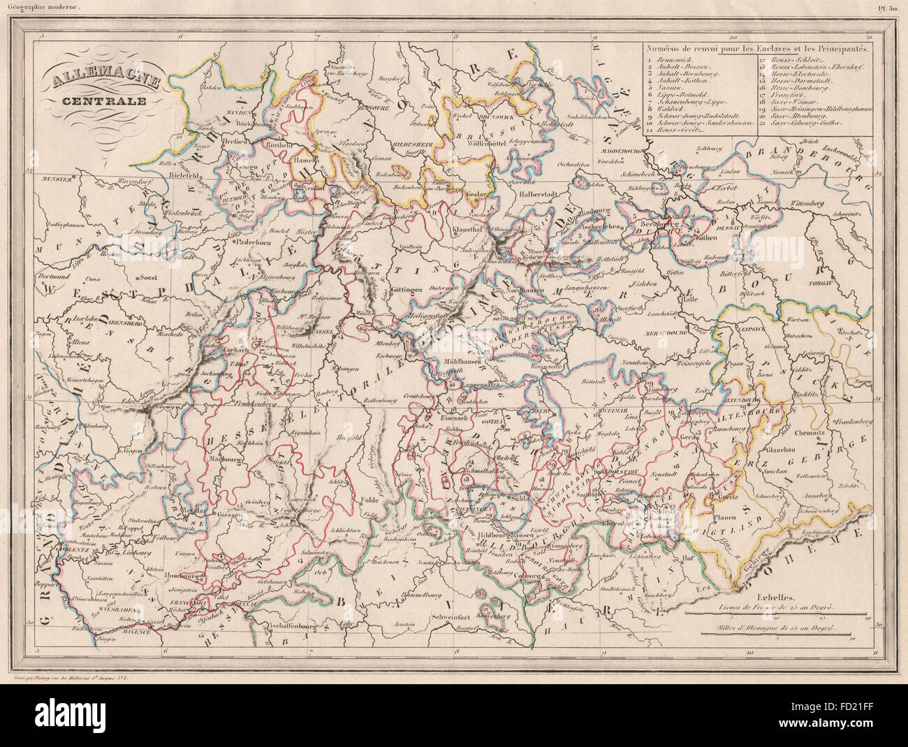 Central Germany Map.Central Germany Map Stock Photos Central Germany Map Stock Images