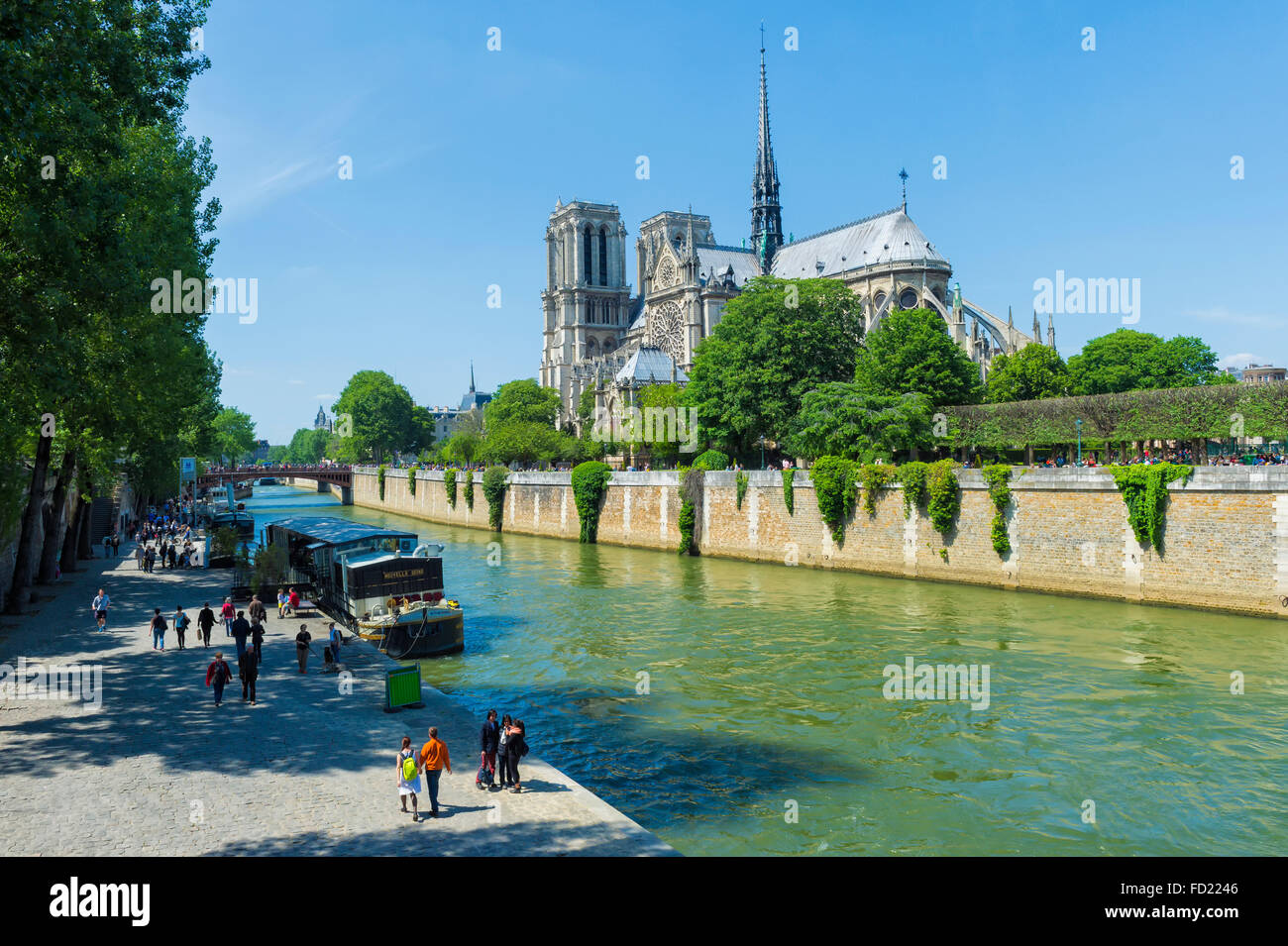 Notre-Dame Church, Paris, France, Unesco World Heritage Site, - Stock Image