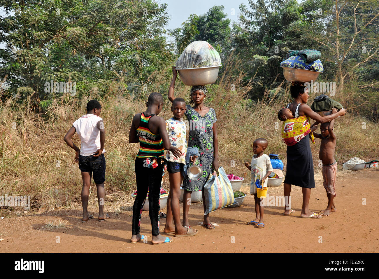 Togo, Nayamassilla village Stock Photo