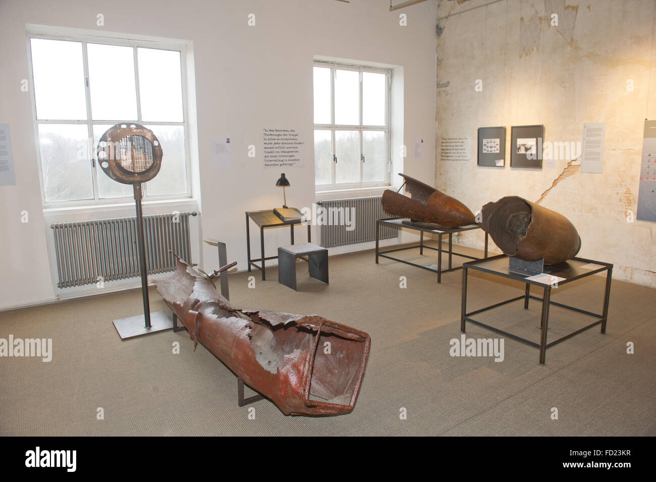 A view of the special exhibition being thrown by the Peenemuende Historical Technical museum, 'Wunder mit Kalkuel' - Stock Image