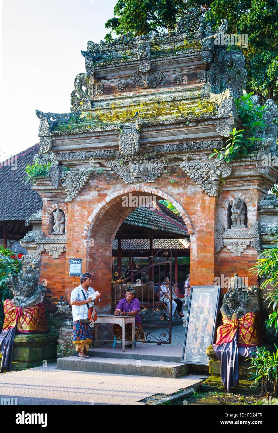 Ubud Palace. Ubud. Bali. Indonesia. - Stock Image