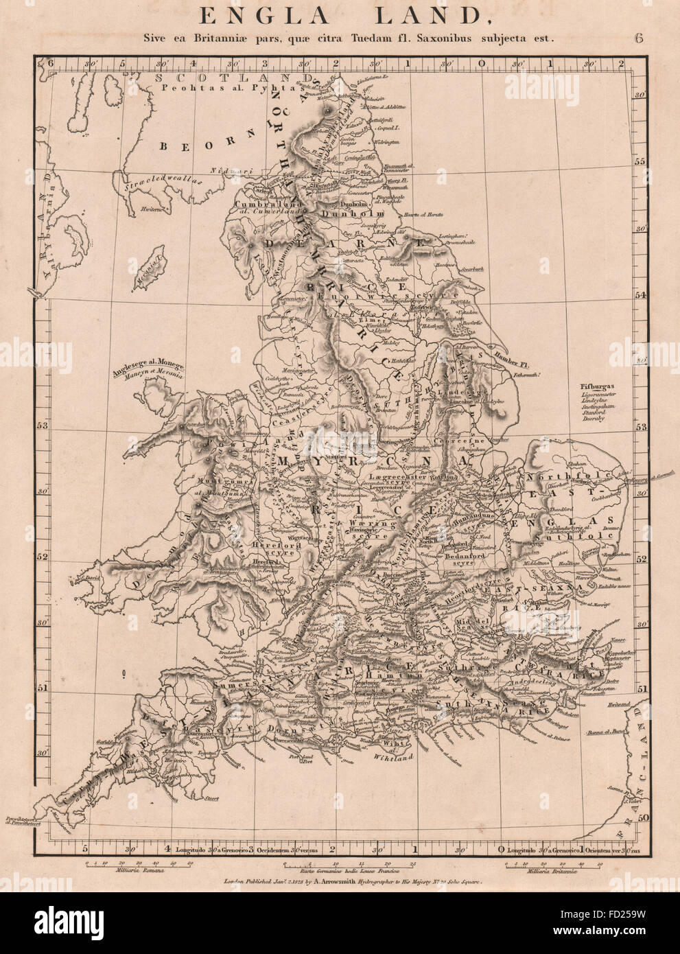 England English Map Stock Photos & England English Map Stock Images