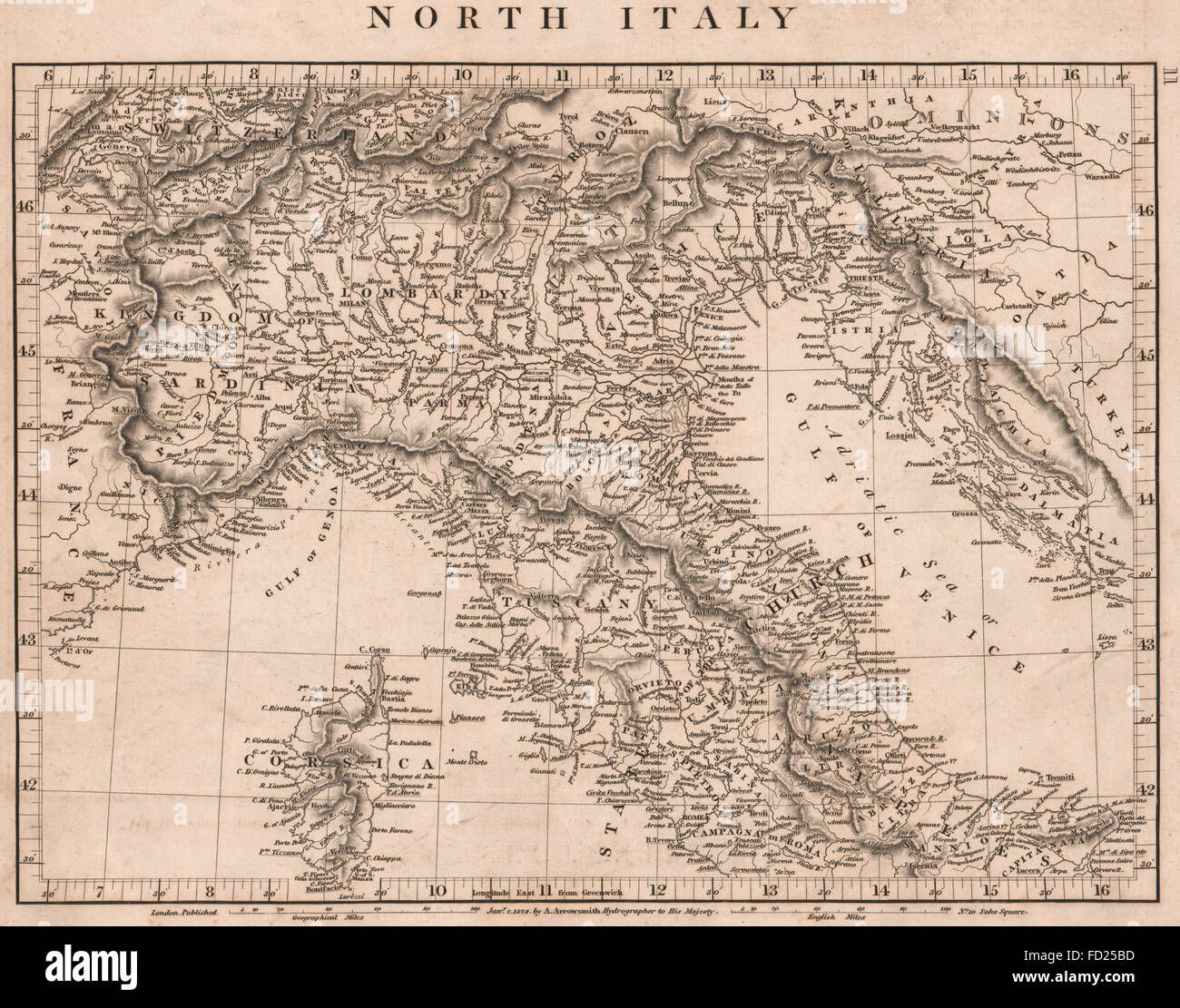 Map Northern Italy Stock Photos & Map Northern Italy Stock Images ...
