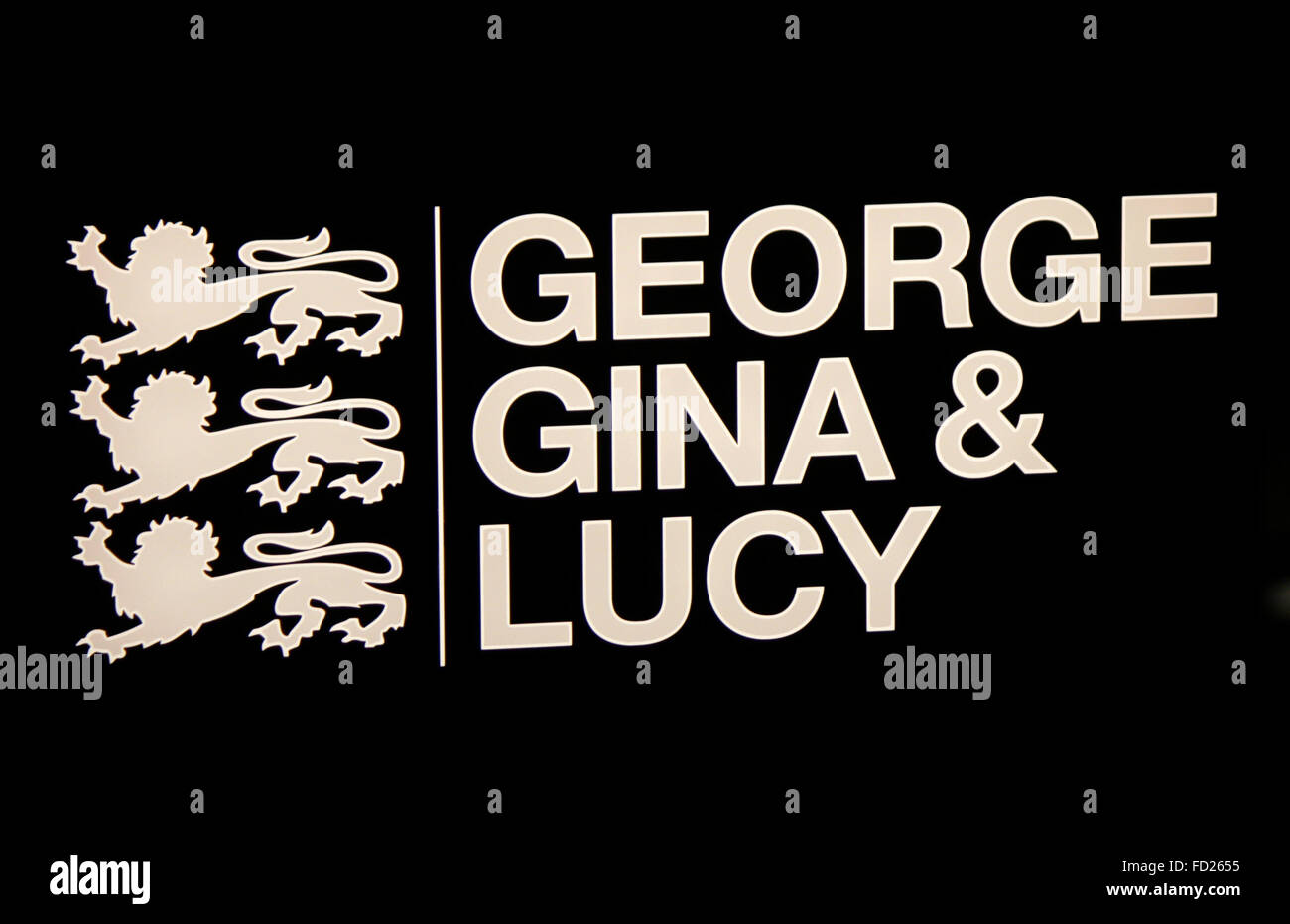 Markenname: 'George Gina and Lucy', Berlin. - Stock Image