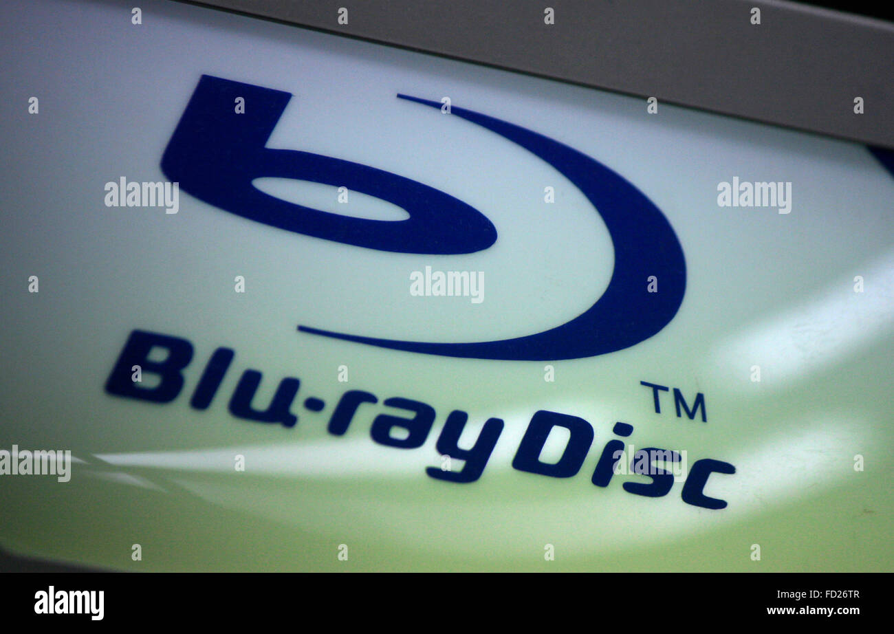Markenname: 'Blue Ray Disk', Berlin. - Stock Image
