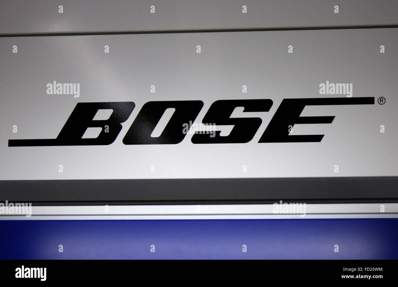 Markenname: 'Bose', Berlin. - Stock Image