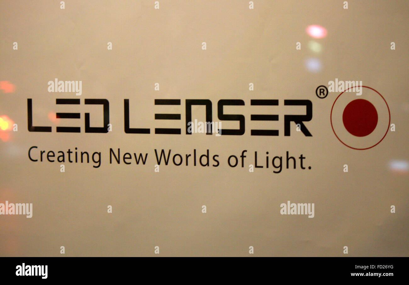Markenname: 'Led Lenser', Berlin. - Stock Image