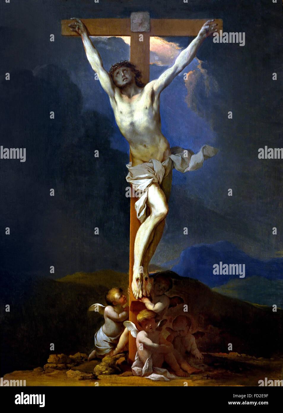 Le Christ en Croix  - Christ on the Cross 1640 Lubin Baugin 1610-1663 France French - Stock Image