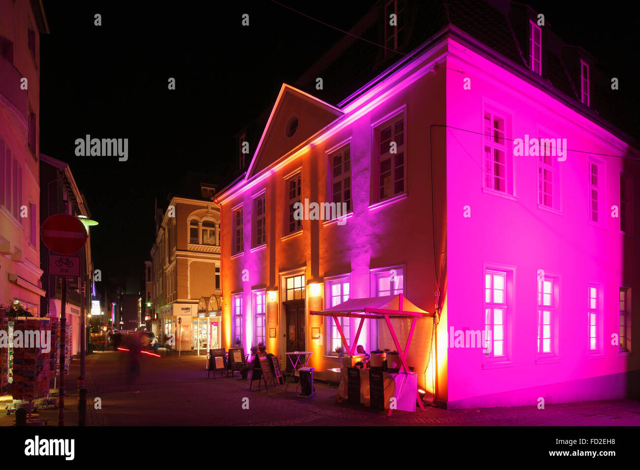 D-Recklinghausen, Ruhr area, Westphalia, North Rhine-Westphalia, NRW, 'Recklinghausen leuchtet', festival - Stock Image