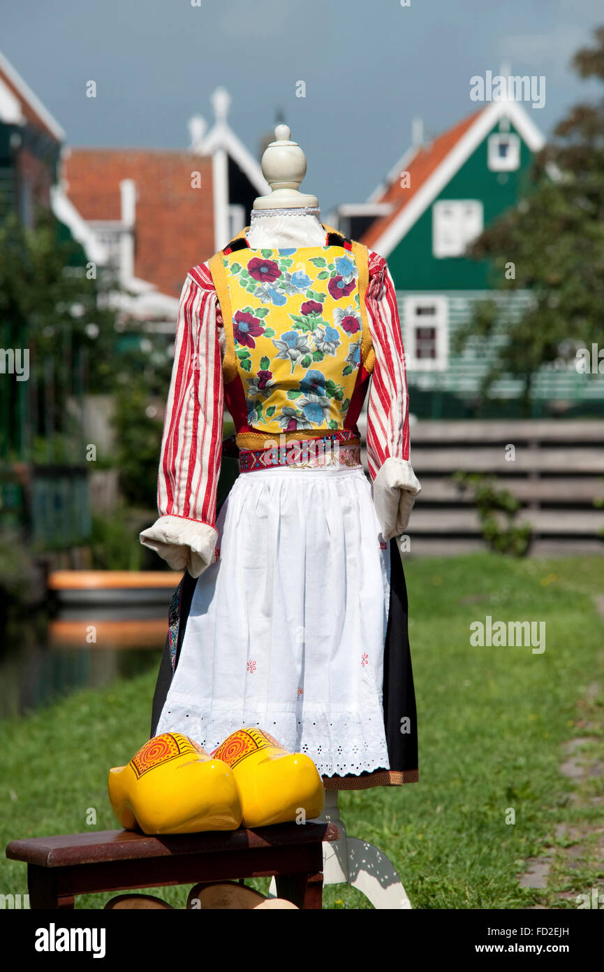 Traditional costume in Marken,The Netherlands - Stock Image