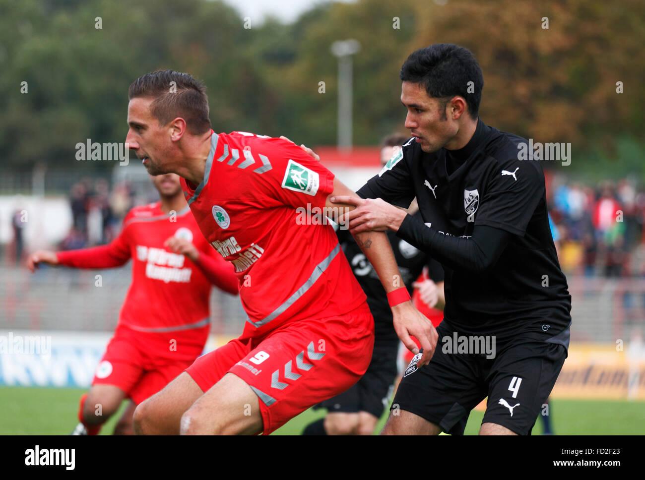 sports, football, Regional League West, 2015/2016, Rot Weiss Oberhausen versus TuS 1895 Erndtebrueck 3:1, Stadium - Stock Image