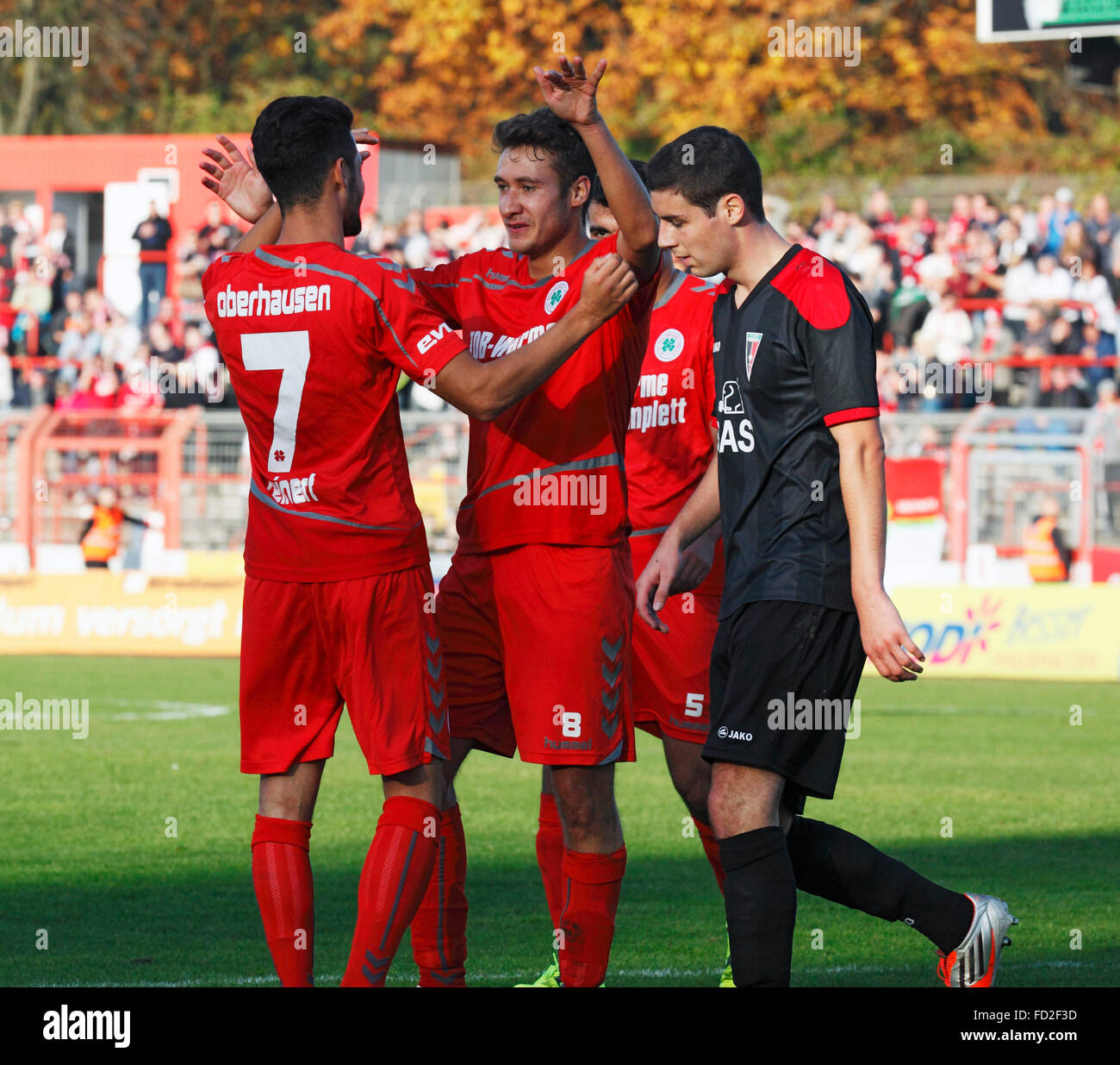 sports, football, Regional League West, 2015/2016, Rot Weiss Oberhausen versus FC Wegberg-Beeck 1920 4:0, Stadium - Stock Image