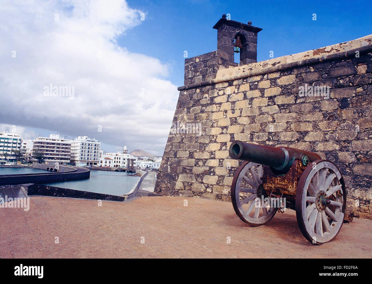 San Gabriel castle. Arrecife, Lanzarote island, Canary Islands, Spain. - Stock Image