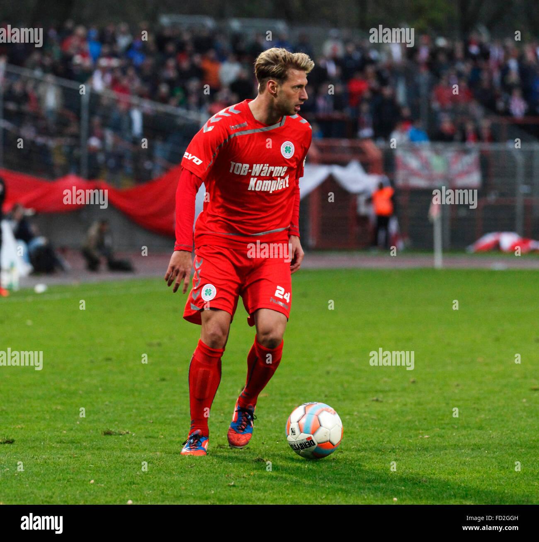 sports, football, Regional League West, 2015/2016, Rot Weiss Oberhausen versus Rot Weiss Essen 2:1, Stadium Niederrhein - Stock Image