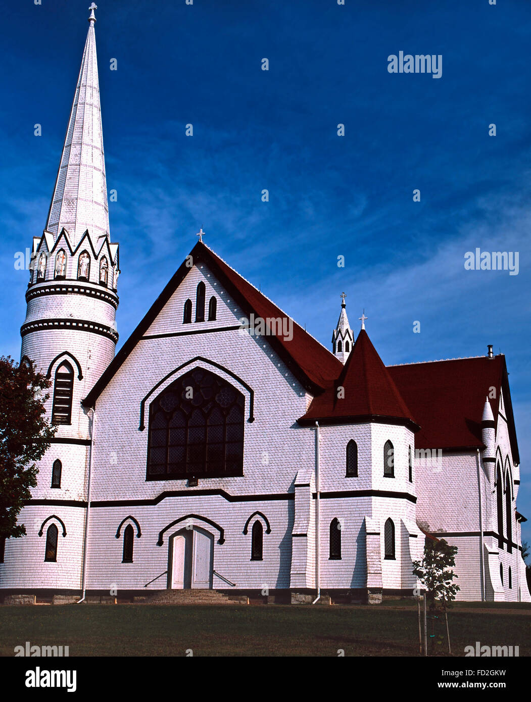 St.Mary's Church in Indian River,Prince Edward Island - Stock Image