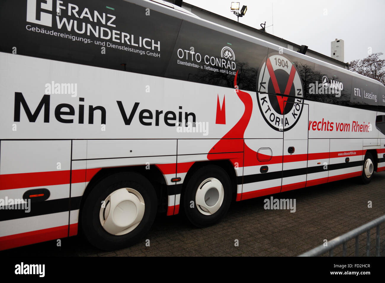 sports, football, Regional League West, 2015/2016, Rot Weiss Oberhausen versus FC Viktoria Koeln 1904 0:3, Stadium - Stock Image