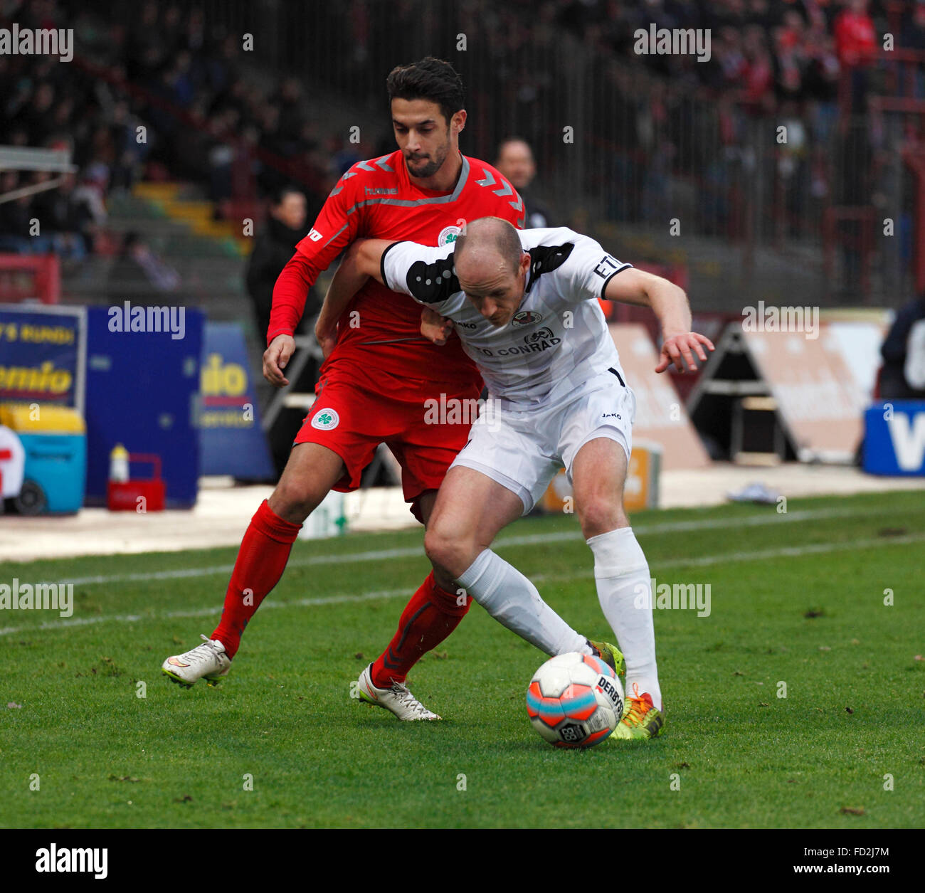 sports, football, Regional League West, 2015/2016, Rot Weiss Oberhausen versus FC Viktoria Koeln 1904 0:3, Stadium - Stock Image