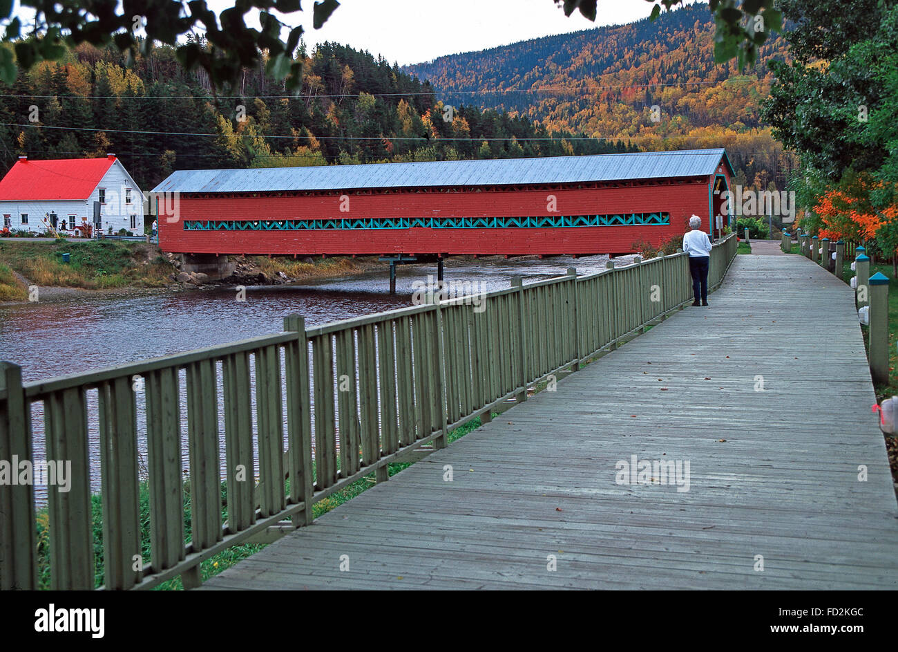 Grand Vallee covered bridge,Gaspe Peninsula,Quebec - Stock Image