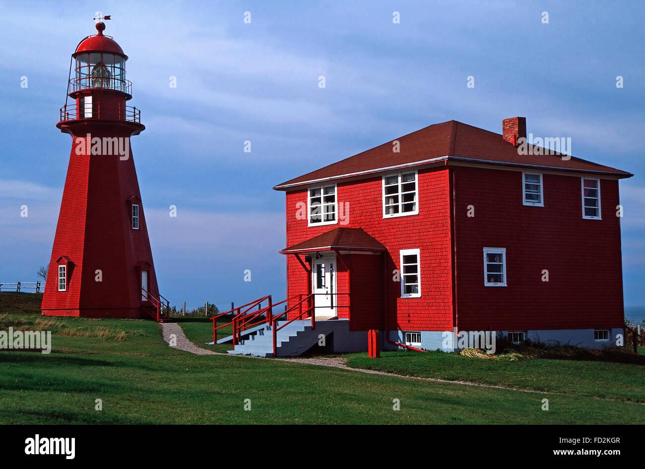 Le Matre Lighthouse,Gaspe Peninsula,Quebec - Stock Image