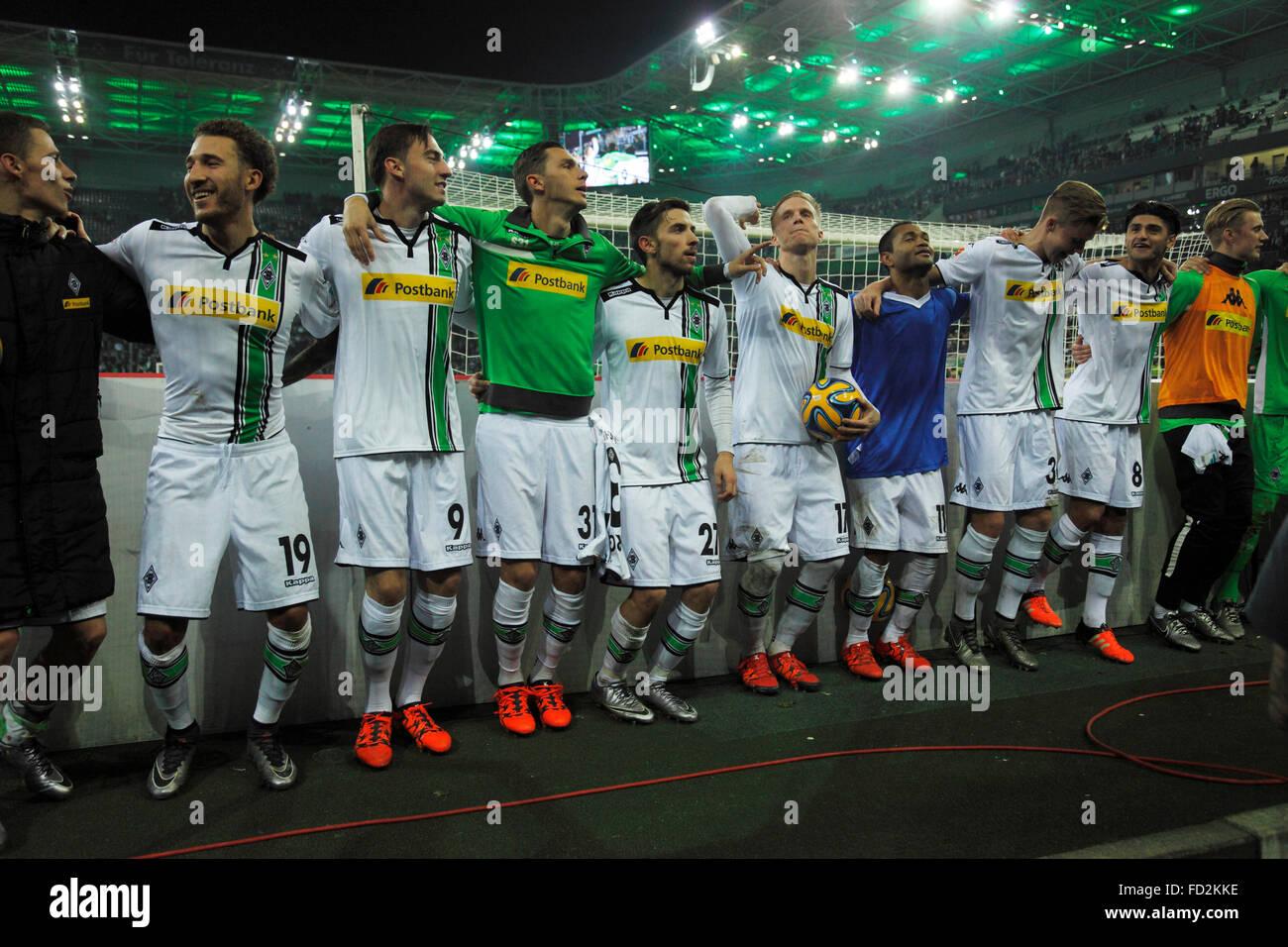 sports, football, Bundesliga, 2015/2016, Borussia Moenchengladbach versus SV Darmstadt 98 3:2, Stadium Borussia - Stock Image