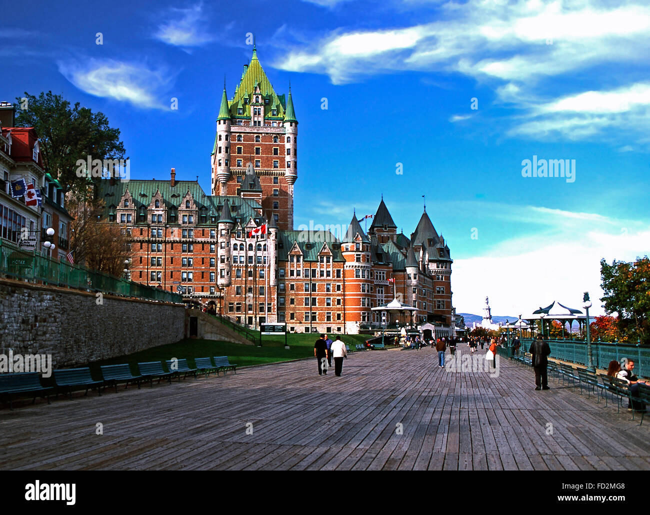 Chateau Frontenac and Dufferin Terrace,Quebec City - Stock Image